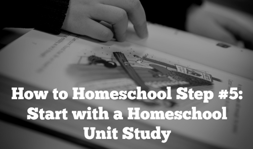 How to Homeschool Step 5: Start with a Homeschool Unit Study