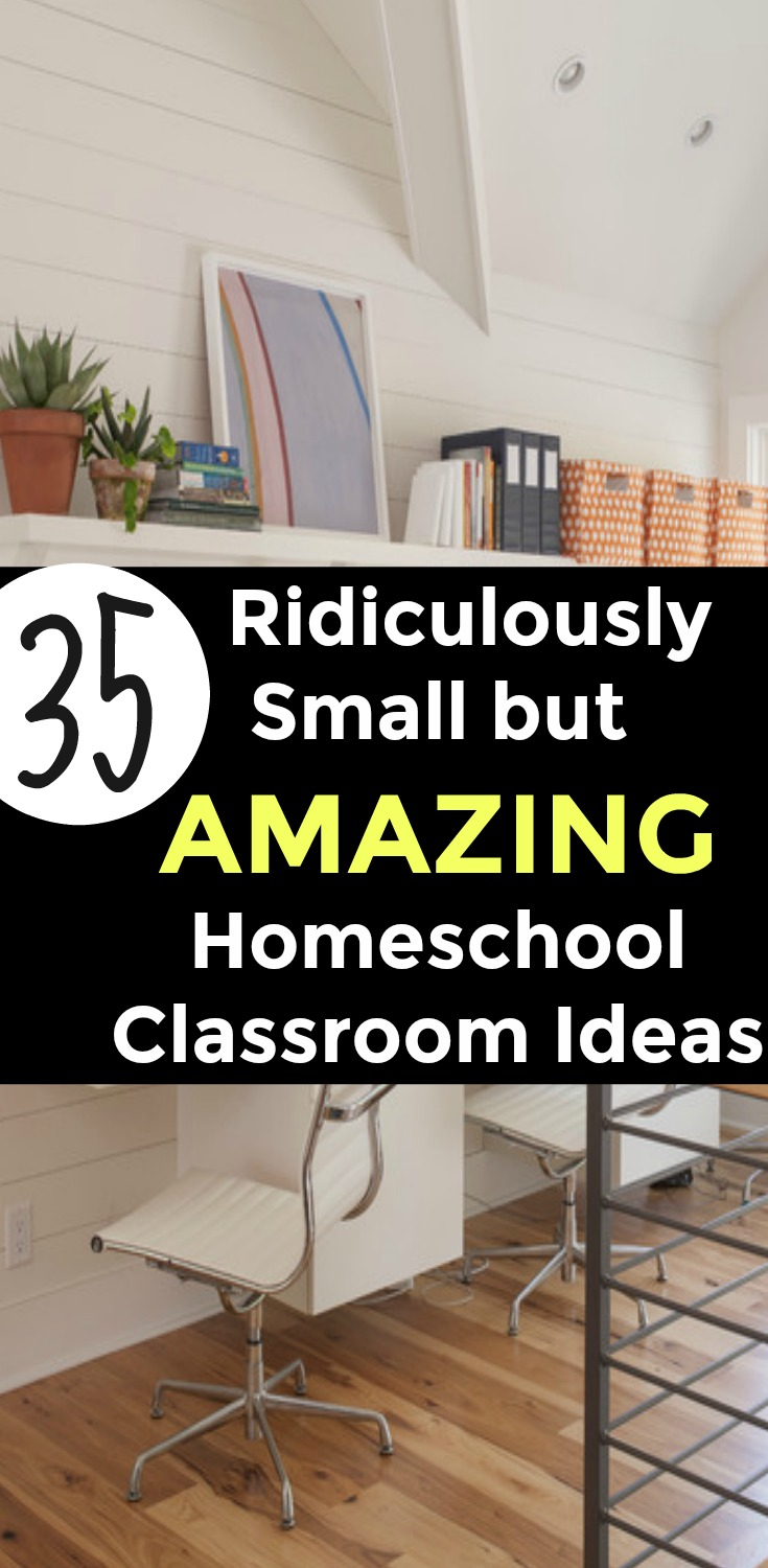 35 AMAZING Homeschool Room Ideas For Small Spaces