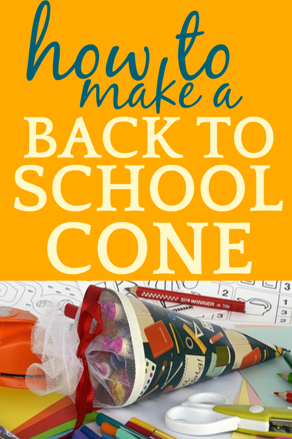 Make a Back to School Cone or German Schultute