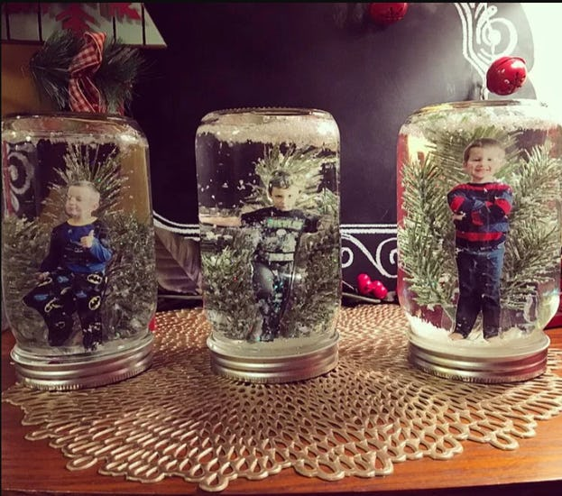 Make a Snow Globe with Picture Inside