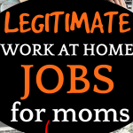 Best Jobs for Moms Who Stay at Home or Homeschool looking at a work table with laptop and papers from above