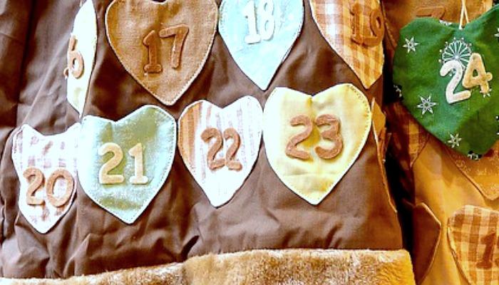 DIY Advent Calendar Idea #11. Heart Fabric Countdown Calendar