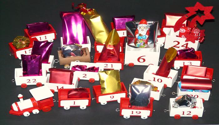 DIY Advent Calendar Idea #2. Train Advent Calendar