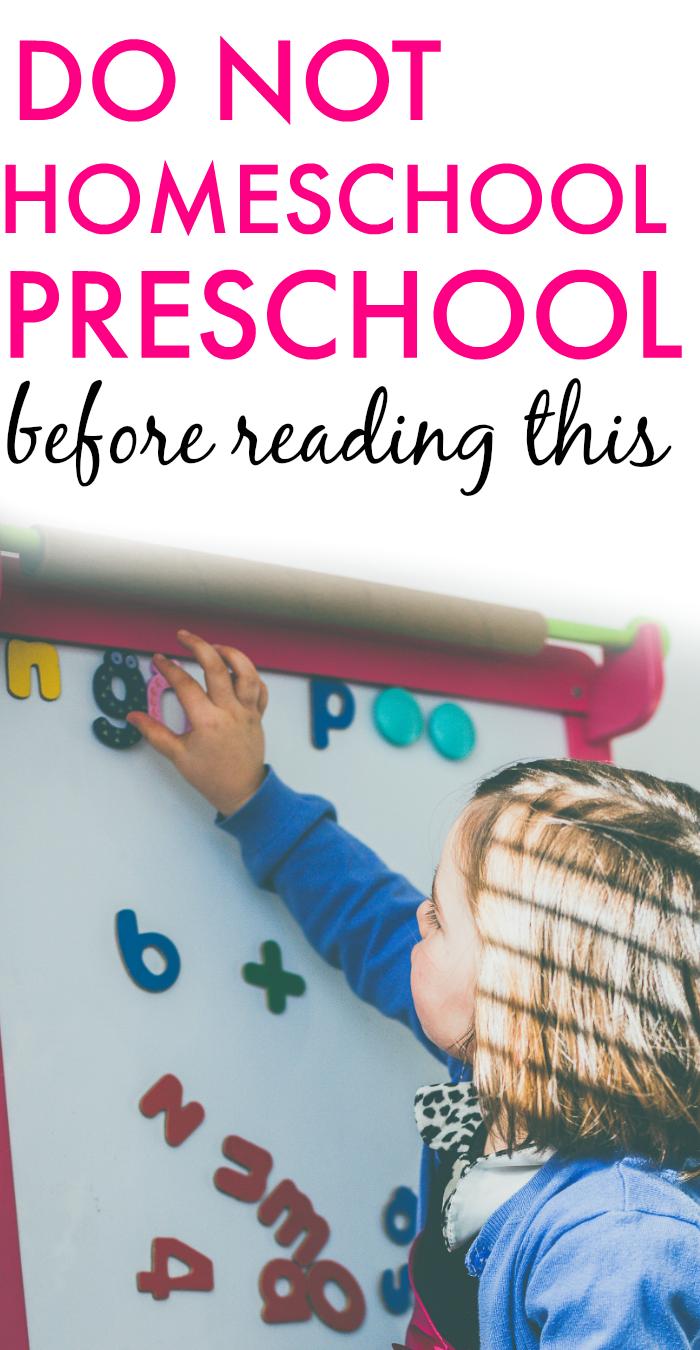 How To Start Homeschool Preschool