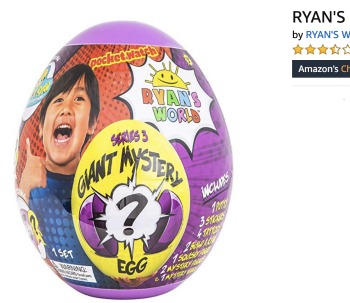 Black Friday Deals RYAN'S WORLD Giant Mystery Egg Series 3