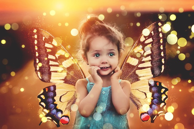 Building Your Best Home School Network | 13 Excellent Social Activities for Homeschoolers little girl with butterfly wings on her back
