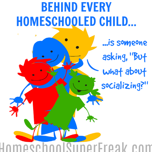 Funny Homeschool Socialization Meme - Building Your Home School Network: four cartoon people standing in a line