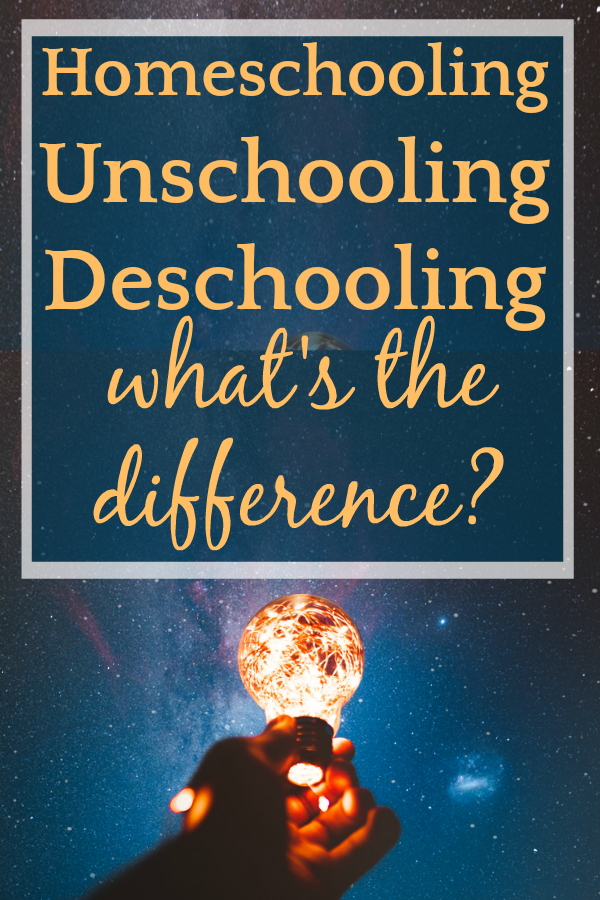 Homeschooling vs Unschooling vs Deschooling: Important Differences You Need To Know #homeschool #homeschooling #unschooling #education #school #parentingtips #howtohomeschool #homeschoolingrequirements #teaching #learning