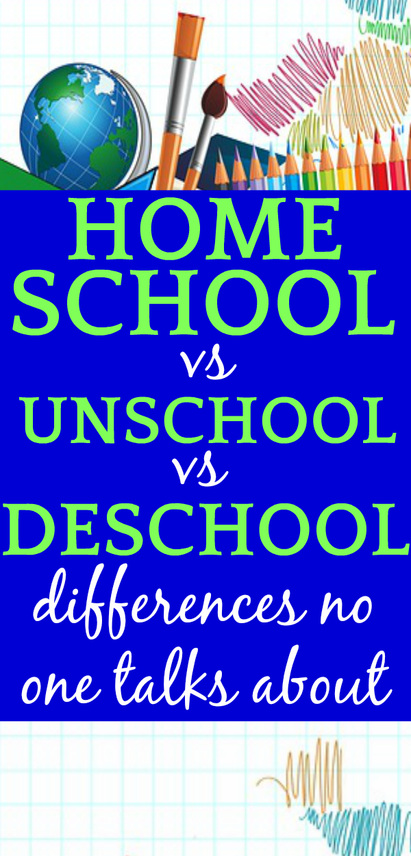 Homeschooling vs Unschooling vs Deschooling: What's the Difference?
