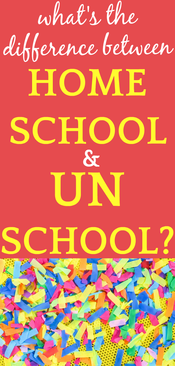 What is the difference between homeschooling and unschooling?