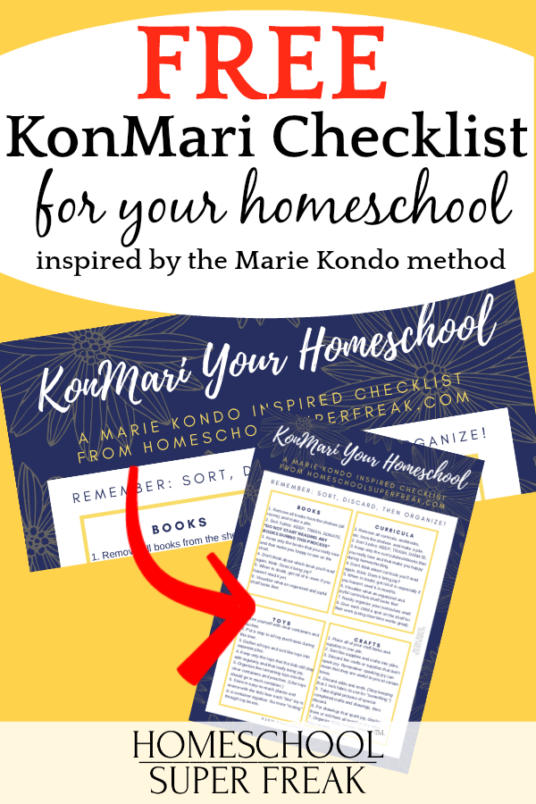 Free KonMari Checklist Printable for Homeschooling