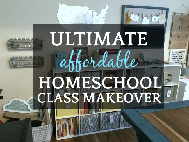 Homeschool Room Ideas |The Ultimate Affordable Classroom Makeover