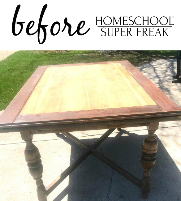Homeschool Room Makeover Before Table