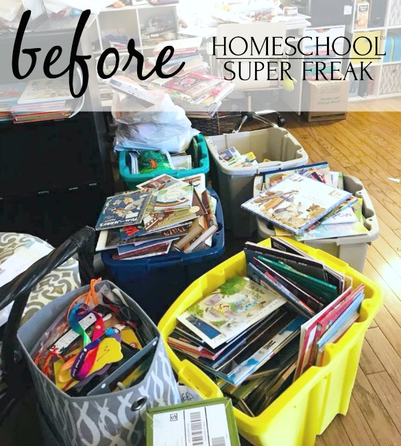 Homeschool Room Makeover Clutter BEFORE PICTURE