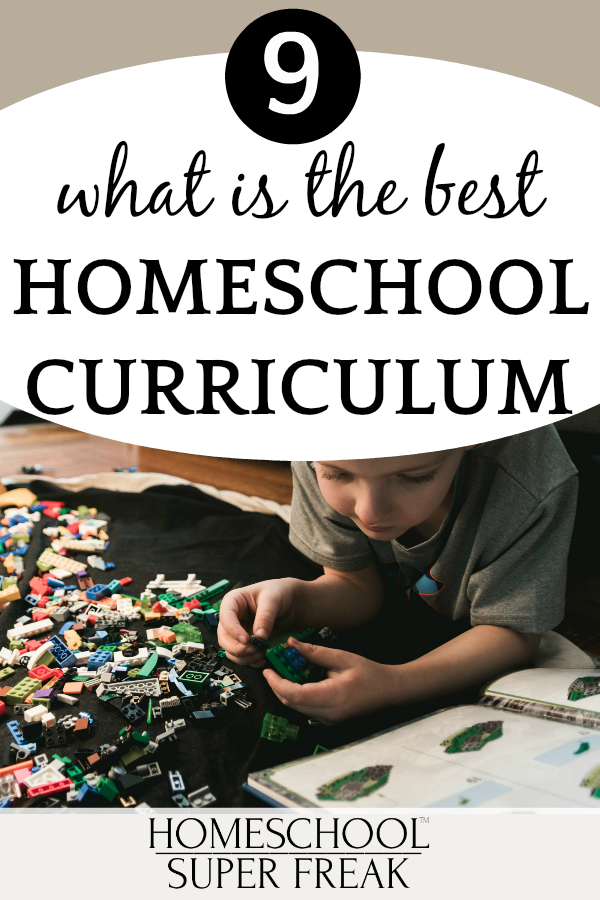 #9 IN HOW TO HOMESCHOOL SERIES: Best homeschool curriculum: young boy lying on the carpet and playing Lego bricks