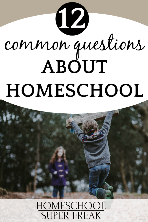 #12 IN HOW TO HOMESCHOOL SERIES: Common Questions About Homeschooling (Answered): boy and girl playing out in the woods