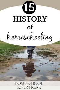 #15 IN HOW TO HOMESCHOOL SERIES: History of Homeschooling child's legs stomping in a mud puddle