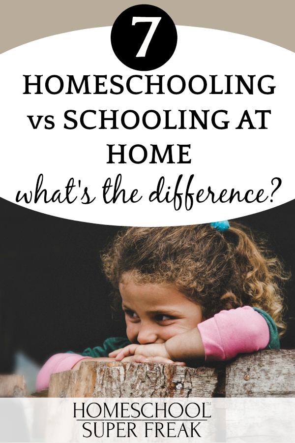 #7 IN HOW TO HOMESCHOOL SERIES: Homeschooling vs Virtual School at Home: Smiling little girl with head on her hands