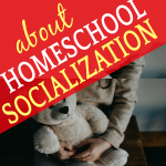 HOMESCHOOL SOCIALIZATION AND FRIENDSHIPS: little girl holding a stuffed bear and sitting in a chair alone