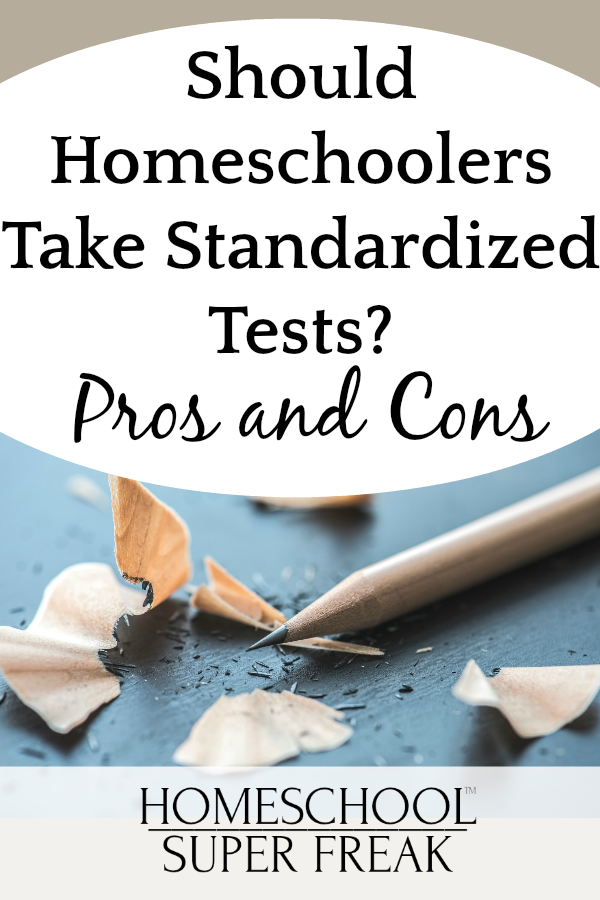 Homeschooling Standardized Testing: Pros and Cons pencil with pencil sharpening around