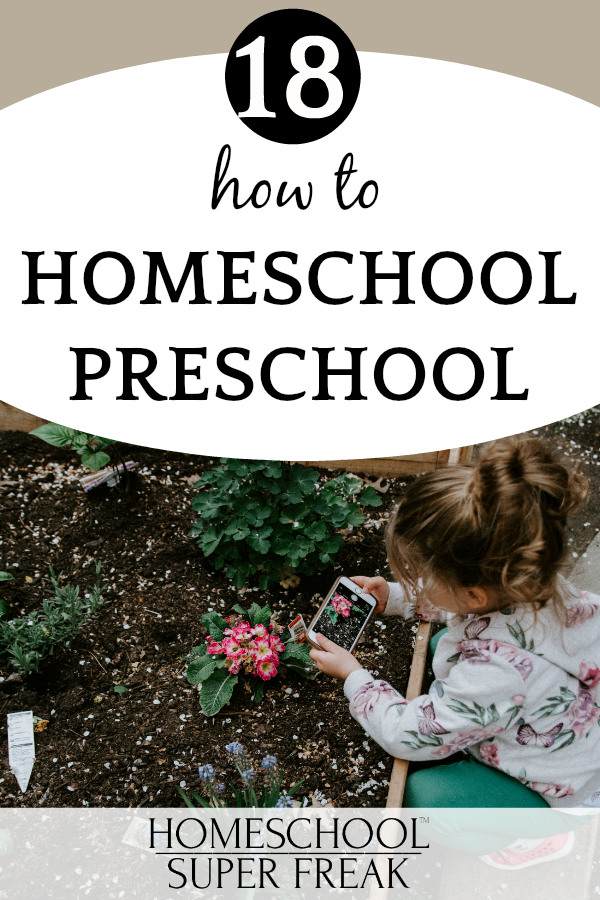 #18 IN HOW TO HOMESCHOOL SERIES: How to homeschool kindergarten and preschool