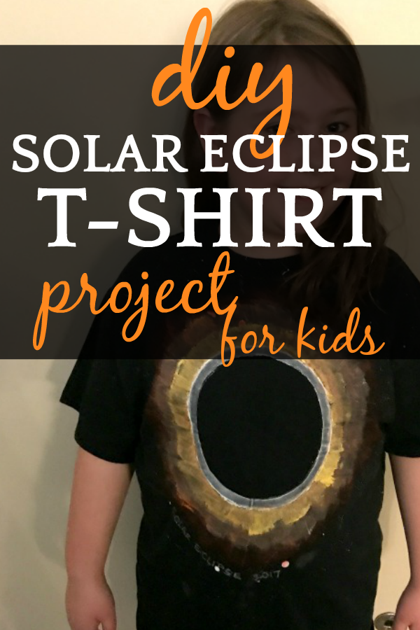 DIY Solar Eclipse for Kids Glow-in-the-Dark T Shirt Craft