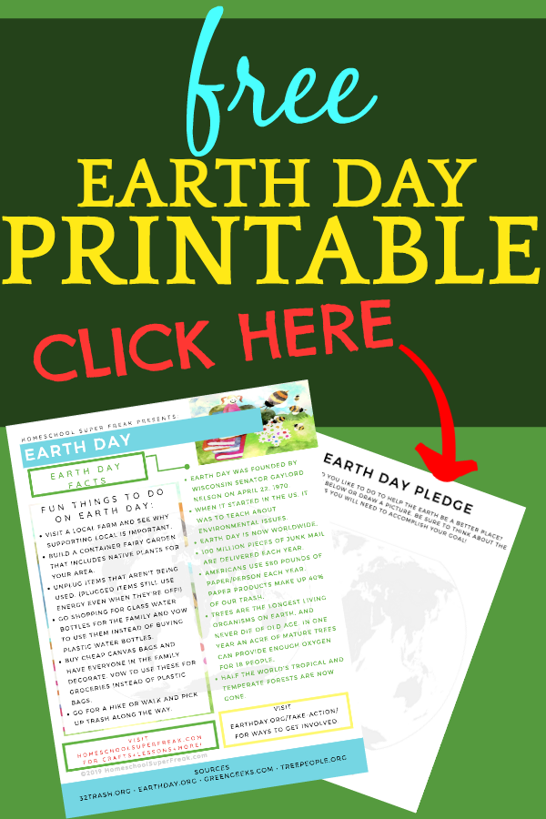 Get Your Free Earth Day Printable for Kids!