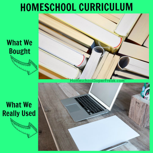 Funny Homeschooling Memes #4: What Homeschool Curriculum We Bought versus What We Used