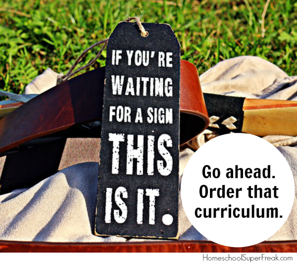 Funny Homeschooling Memes #17: When You Need a Sign of Which Homeschool Curriculum to Buy