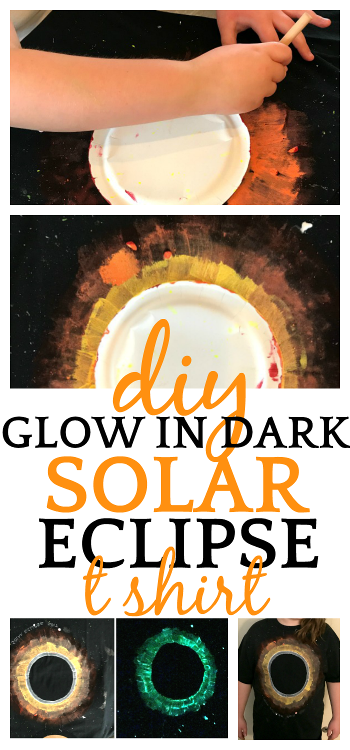 Solar Eclipse for Kids | DIY Solar Eclipse Glow-in-the-Dark T Shirt