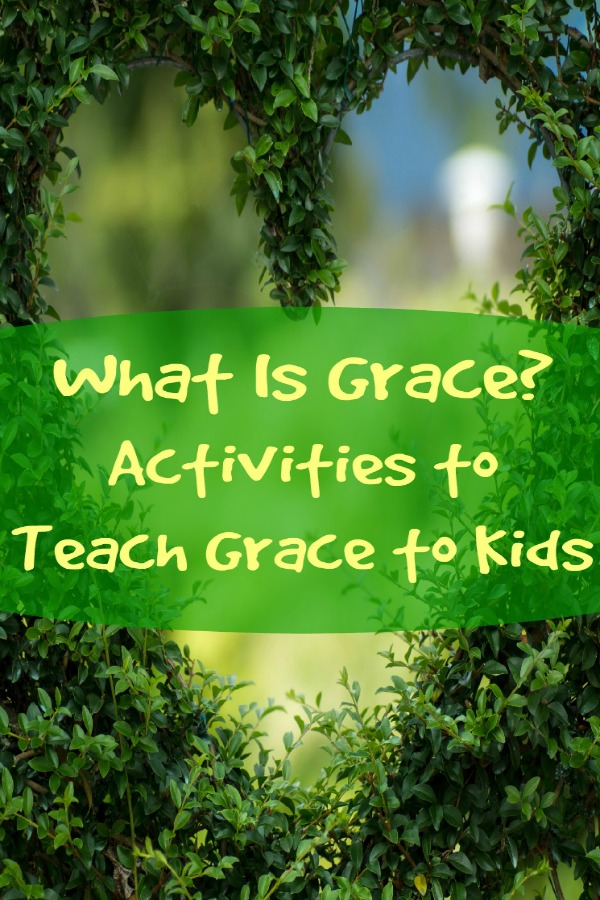 What Is Grace? | 13 Activities and Games to Teach Grace to Kids: a heart carved out of a bush