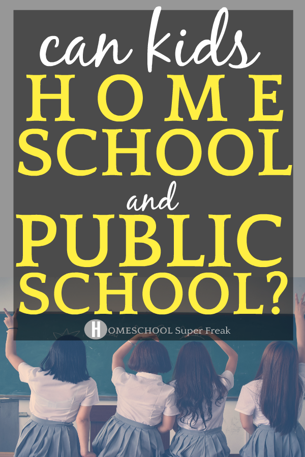 Hybrid Schooling: Can You Homeschool and Go To Public School? #homeschool #homeschooling #homeschoolers #hybridschool #school #publicschool #education