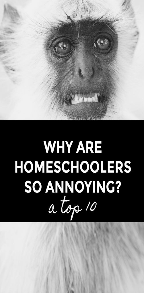 Why Are Homeschoolers So Annoying? (A Top 10) #homeschoolhumor