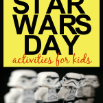 10 Super Fun Star Wars Day Activities for Kids: White Lego Star Wars Storm Troopers standing in a line
