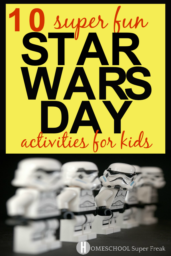 10 Fun Star Wars Day Activities for Kids: White Lego Star Wars Storm Troopers standing in a line