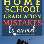 12 Common Homeschool Graduation Ceremony Mistakes to Avoid! graduation caps being thrown into the air