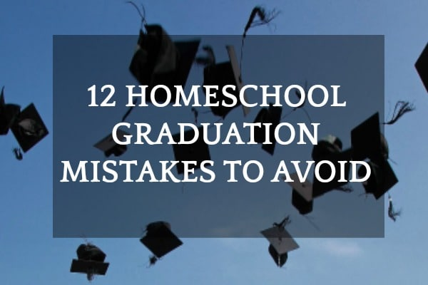 12 Homeschool Graduation Mistakes to Avoid: graduation caps being thrown into the air