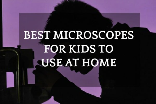 Best Types of Microscopes for Kids: shadow of a child looking into a microscope