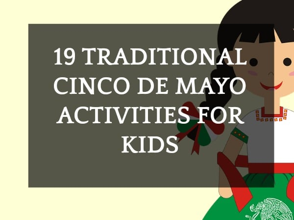 Cinco De Mayo Facts with cartoon girl in traditional Puebla Mexican dress