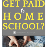 Do You Get Paid To Homeschool?: woman holding fanned out money