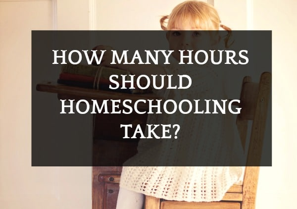 Homeschool Hour Requirements: How Many Hours Should Homeschooling Take? with a little girl sitting at a school desk