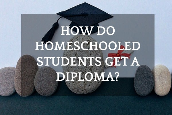 How Do Homeschooled Students Get A Diploma? Rock with a graduation cap on