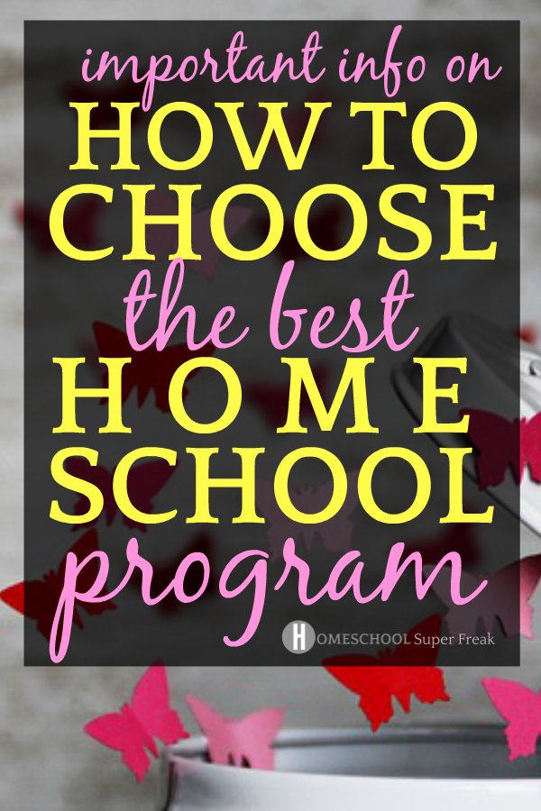 How to Choose the Best Homeschool Program: Red and pink paper butterflies flying out of a can