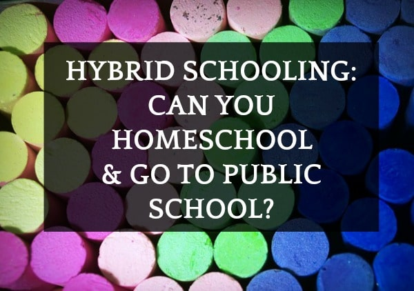 Hybrid Schooling: Can You Homeschool and Go To Public School?: different colored chalk
