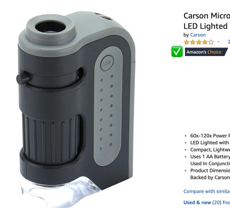Pocket Microscope--Amazon's Choice