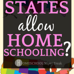 What States Allow Homeschooling? with a colored map of the United States