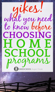 What You Need to Know About Homeschool Programs: black fence on a purple night sky