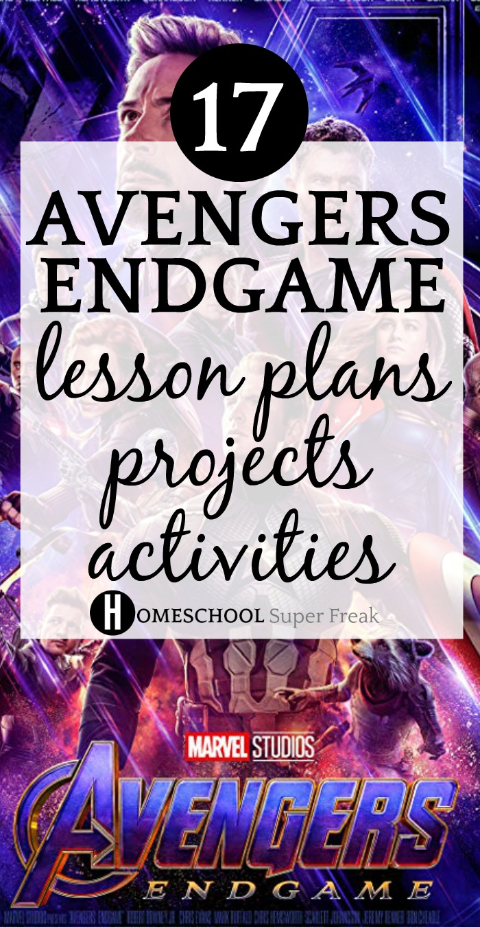 17 Avengers Endgame Lesson Plans, Project, and Activities. Here are some great Avengers Endgame lesson plans and activities for you to add to your studies and theme lessons. #avengers #avengersendgame #movies #familymovienight #theme #lesson #lessonplans #homeschool #homeschooling #homeschoolcurriculum #learning #education #educational #educationaltoys #educationalgames #gameschooling