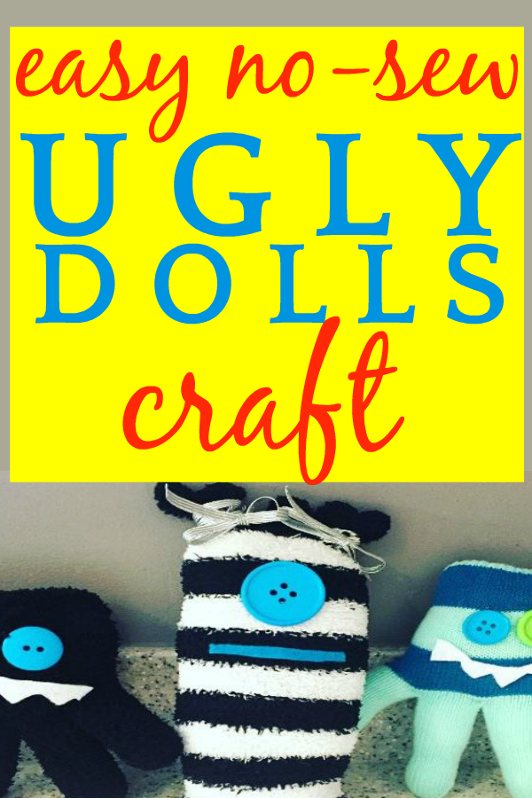 SUPER EASY DIY No-Sew Ugly Dolls Craft Inspired by the UglyDolls Movie #uglydolls #diycrafts #crafts #craftsforkids #craftstodowithkids #craftsforpreschoolers #preschool #preschoolactivities #preschoolactivity #nosew #homeschool #homeschooling #homeschoolers #familymovienight