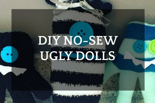 Easy Monsters Craft: DIY No-Sew Ugly Dolls